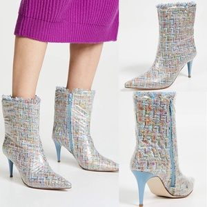 Jeffrey Campbell Vedet Mixed Media Bootie